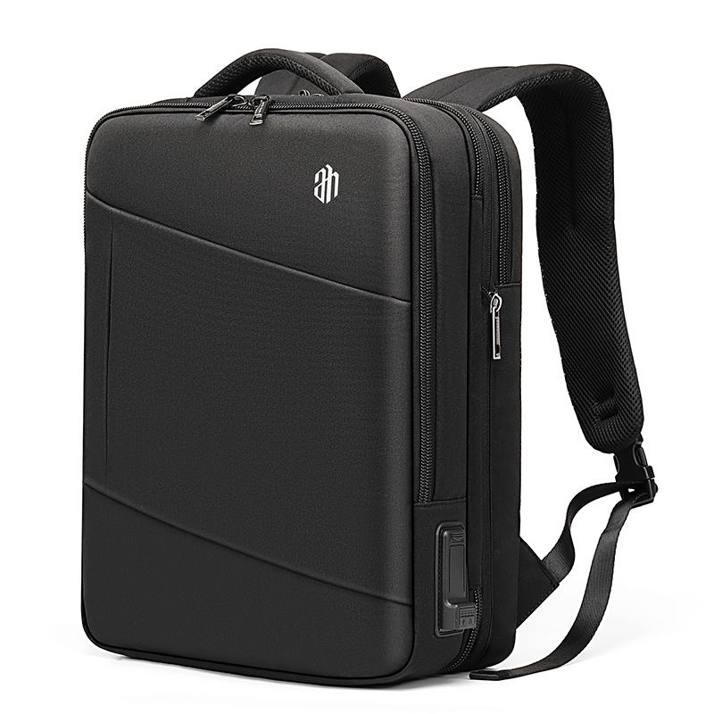 Men Travel Backpack For 15.6 Inch Laptop Bag With Multifunction USB Charging Port Expandable Backpacks Water Repellent B00345