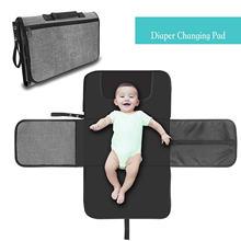 Детский коврик для пеленания водонепроницаемый складной комплект