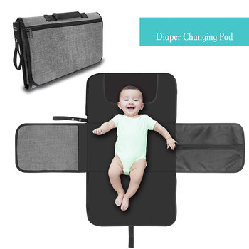 Portable Nappy Changing Mat, Waterproof Foldable Baby Changing Kit, Soft Pillow Diaper Pad Keep Baby Clean for Home Travel недорого