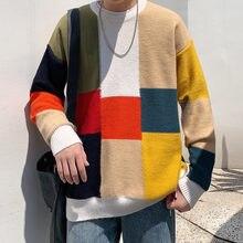 2020 мужские повседневные свободные шерстяные свитера с круглым