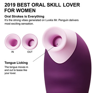 Image 2 - Luvkis 7 מצב לשון ללקק ויברטור אוראלי דגדגן מין ויברטור לנקבה פטמת דגדגן למחוא זוג לעיסוי למבוגרים צעצוע מין מוצר