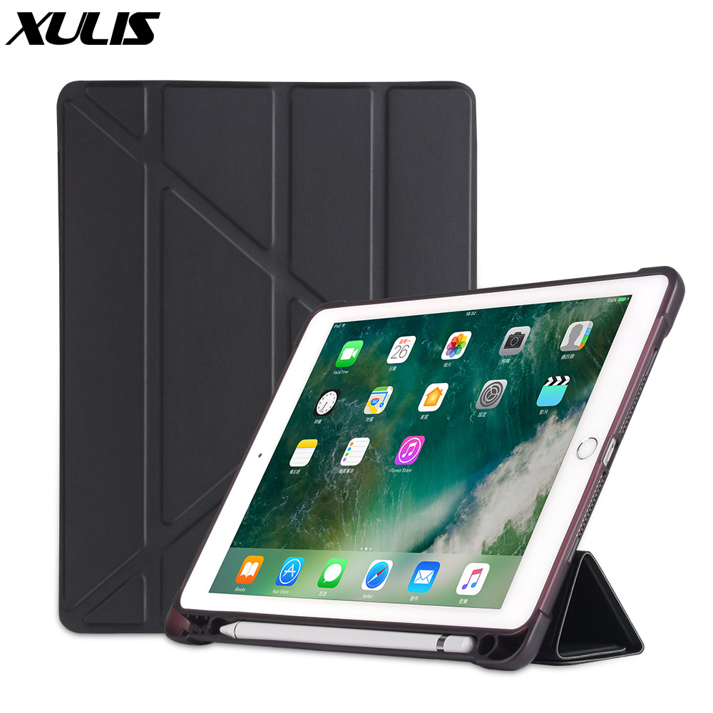 For iPad 9.7 2018 Case with Pencil Holder PU Leather Silicone Soft Cover For ipad Air 1 Air 2 6th Generation Pro 9.7 Case Funda(China)