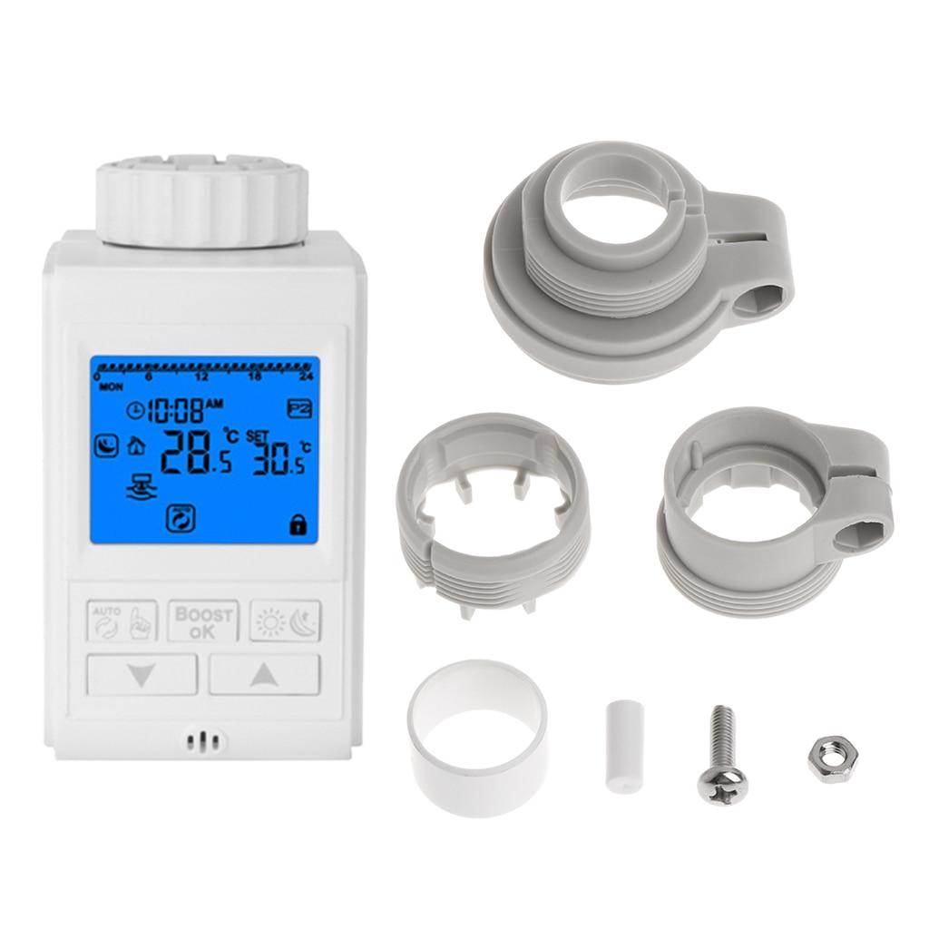 Thermostat Programmable minuterie TRV vanne de radiateur actionneur régulateur de température