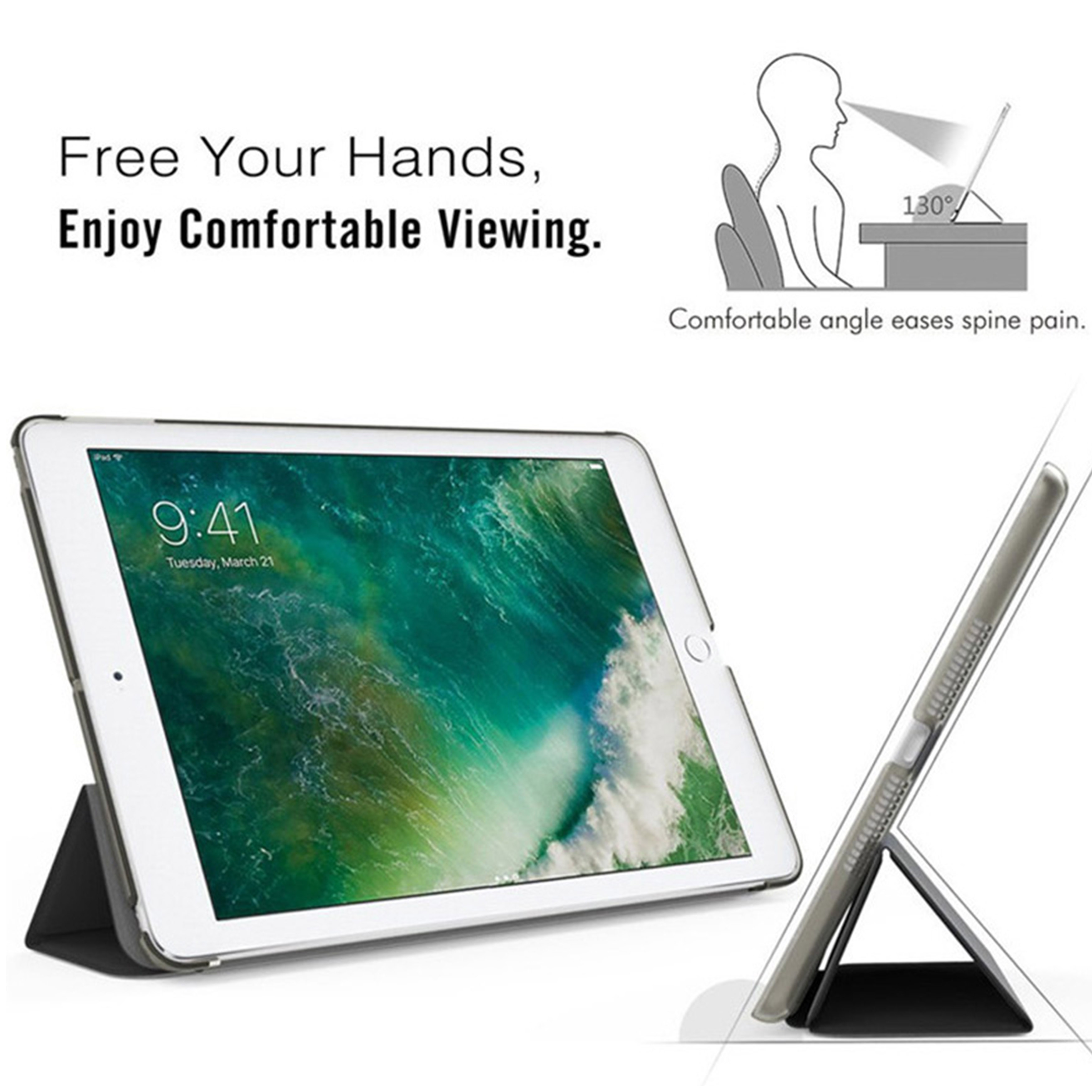 Tablet case for Apple iPad 10 2 2019 iPad 7 7th Generation Flip Stand Case Trifold