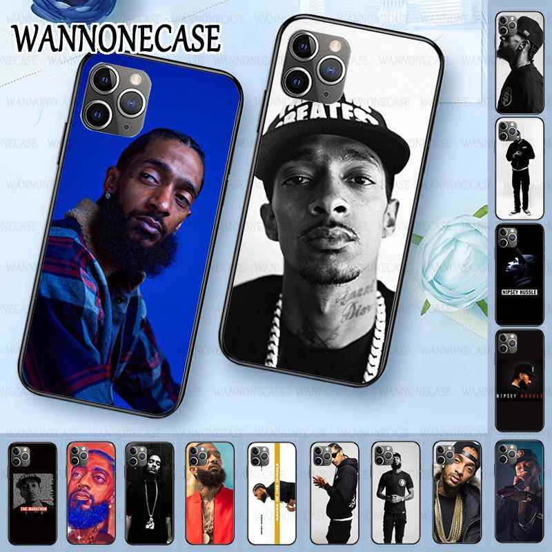TPU Soft Silicone Black Phone Case For iphone 11pro 5s 6s 7 8plus x xs xr xsmax coque Mobile Cases Nipsey Hussle