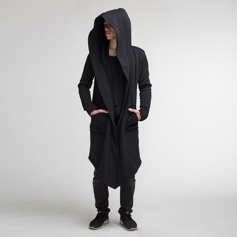 H4dee96bf7ca24679950a95679fe357e2R Unisex Winter Jacket Casual Open Stitch Hooded Long Cloak Cape Coat Cardigan Hoodie Jacket Women Men Pocket Coat Warm Trench hot