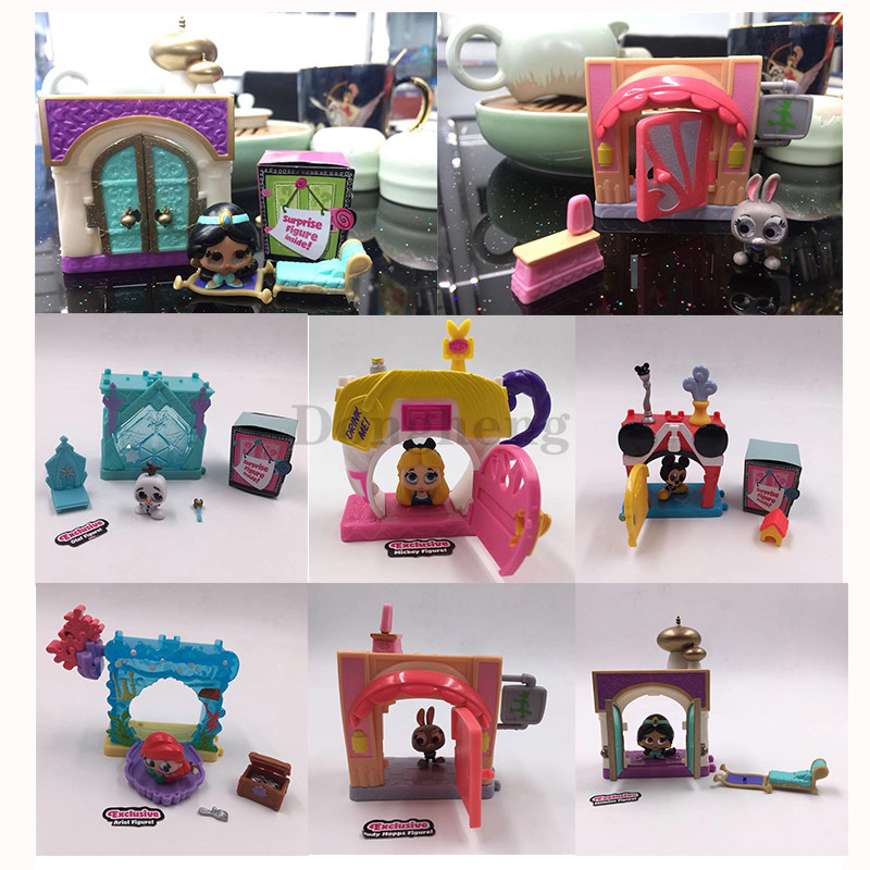 Doorables Mini Playset Ariel's Secret Cove Mickey's House Alice's Tea Cup OLAF'S CHILL OUT Jasmine's Royal City Jumbeaux's Cafe