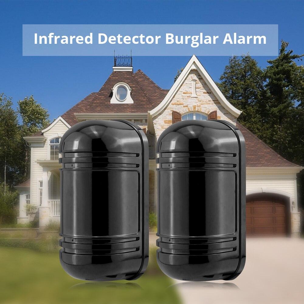 FUERS extérieur périmètre mur barrière barrière barrière Invisible double faisceau IR alarme capteur 100m détecteur infrarouge pour système d'alarme