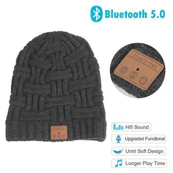 Αναβαθμισμένος χειμερινός σκούφος με ενσωματωμένο ακουστικό bluetooth 5 και hd ποιότητα