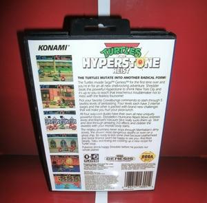 Image 2 - Чехол с изображением черепашек из мультфильма «гипер Стоун Heist US» с коробкой и руководством для игровой консоли MegaDrive 16 бит MD card