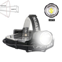 XHP70.2 USB Rechargeable Led Headlamp XHP70 Most Powerfull Headlight Fishing Camping ZOOM Torch Use 3*18650 batteries
