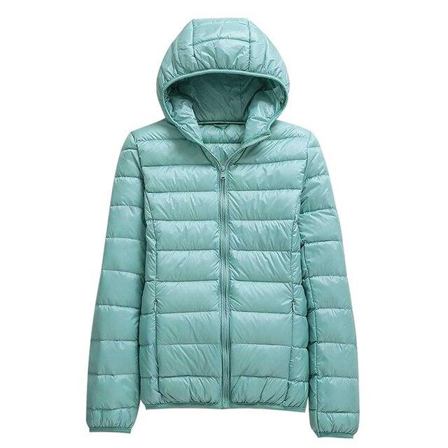 Winter Oversized Women's Ultralight Thin Down Jacket Duck Down Hooded Jackets Long Sleeve Warm puffer jacket parkas woman 2021 4