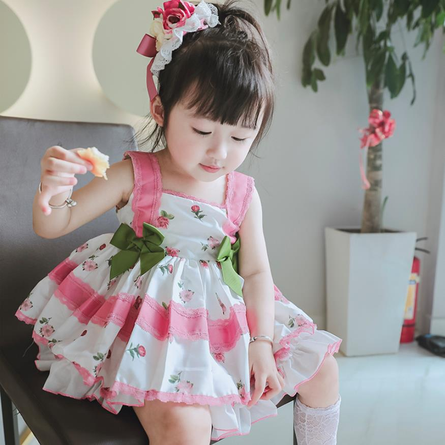 Baby girl clothes Spanish retro palace style dress Sleeveless Cute Princess dress for girls birthday party dress vestidos Y2656