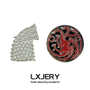 LXJERY Enamel The Stark And The Tanglians Pins Badge On Backpack Brooch Pins For Clothes Broche For Fans Gift