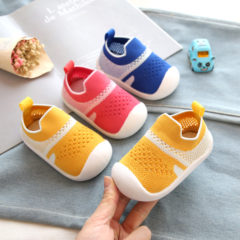 2020 Spring Girls Boys Toddler Shoes Infant Casual Mesh Shoes Soft Bottom Comfortable Non-slip Knitting Baby First Walkers Shoes