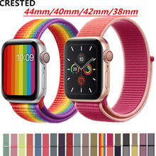 Strap For Apple Watch band apple watch 4 5 3 band 44mm/40mm Sport loop iwatch band 5 42mm 38mm correa pulseira nylon watchband цена и фото
