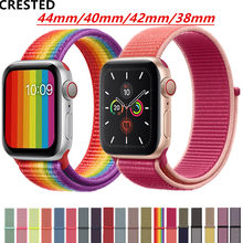 Correa para apple watch Banda, apple watch 4 5 3 banda 44mm/40mm deporte bucle iwatch banda 5 42mm 38mm correa pulseira de nylon correa de reloj(China)