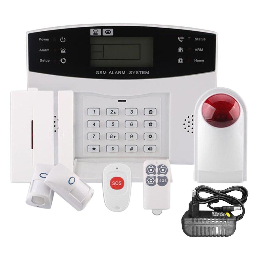 Cs85-sxgsm-lcd sans fil 433 alarme anti-intrusion à domicile vocale intelligente (Type anti-pet) invite vocale complète grand écran LCD