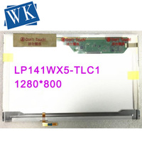 Free Shipping! LP141WX5 TLC1 LP141WX5 TLN1 B141EW05 V.2 LTN141AT12 Laptop lcd screen with small tail 1280*800 LVDS 30pins