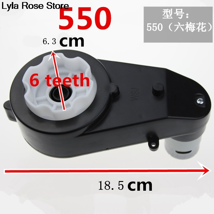 Children Kids Electric Vehical Toy Car Motorbike Tricycle Reducer Gearbox 550 <font><b>390</b></font> <font><b>Motor</b></font> 6V 12V 8000RPM-30000RPM 5/6 teeth image