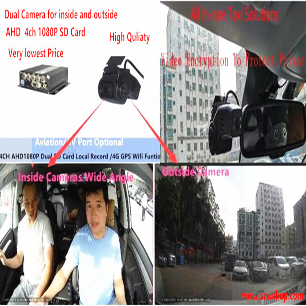 Basic dual Cam system +1SD card 4 Mobile Dvr Recorder Kits For Vehicle Bus Taxi online remote Video Playback-cost effective