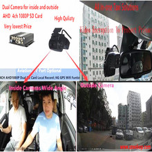Basic dual Cam system +Dual SD card 4 Mobile Dvr Recorder Kits For Vehicle Bus Taxi online remote Video Playback-cost effective sd dvr high resolution digital video recorder for fpv system