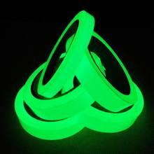 3m luminosa fluorescente noite auto-adesivo brilho no escuro adesivo fita de segurança de segurança decoração para casa fita de advertência