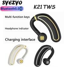 K21 TWS אלחוטי אוזניות Bluetooth Ipx8 עמיד למים אוזניות 9D סראונד אוזניות ספורט אוזניות לxiaomi Huawei Iphone