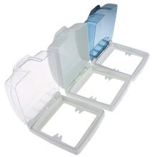 1 X Plastic Wall Switch Waterproof Cover Box 86 Type Light Panel Socket Doorbell Flip