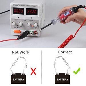 Image 3 - Probador de circuito LCD Digital para coche y camión, herramienta de diagnóstico de 3 48V con cable de 11 pies, bolígrafo de prueba de voltaje y sonda de lámpara