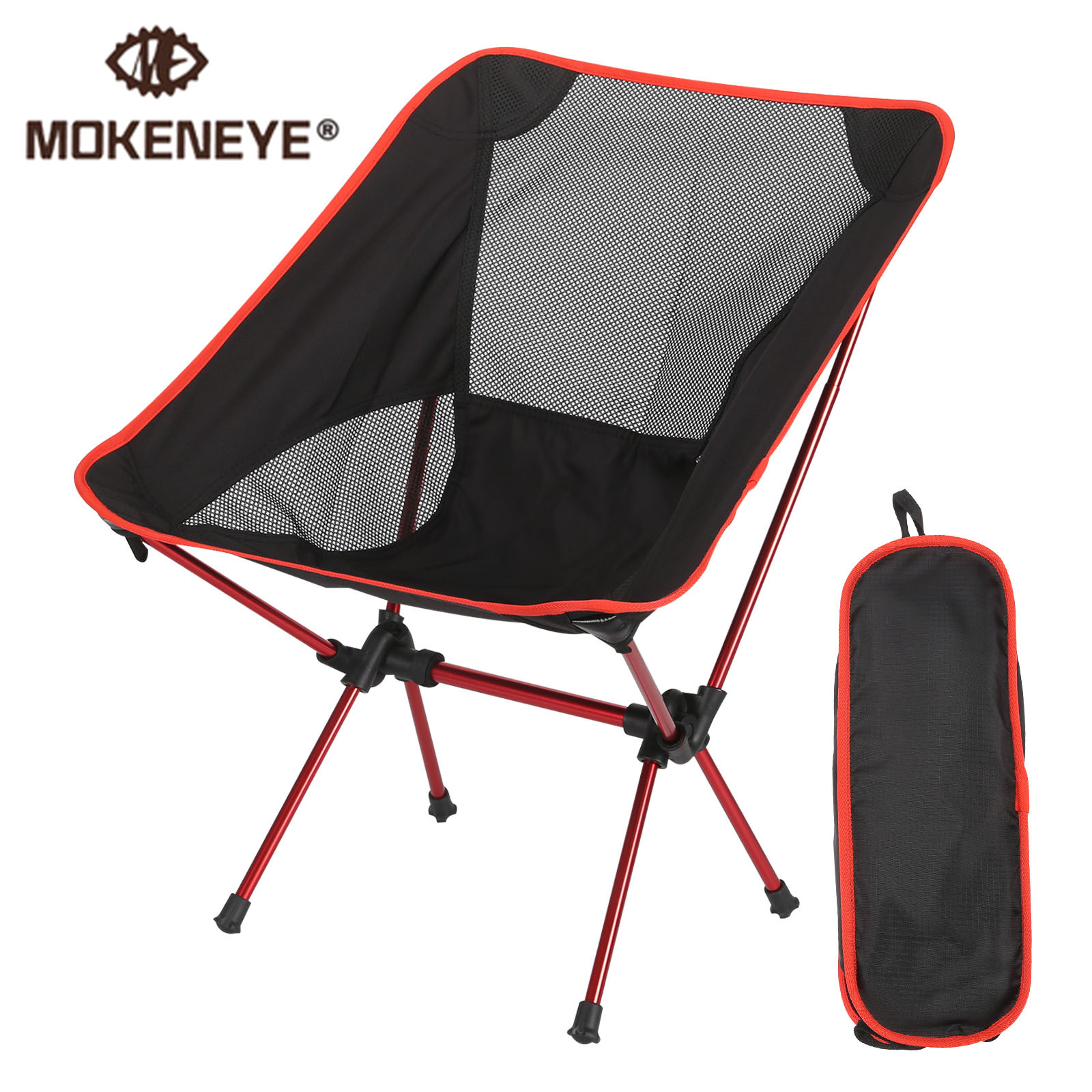 Ultralight Detachable Portable Moon Chair Lightweight Chair Folding Extended Seat Office Home Fishing Camping BBQ Garden Hiking