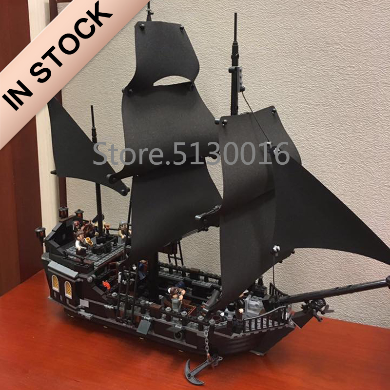 In Stock 16006 Ideas The Black Pearl Pirates Of The Caribbean Ship 804Pcs 4184 Model Building Kits Blocks Bricks Education Toys