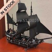 In Stock 16006 Ideas The Black Pearl Pirates of the Caribbean Ship 804Pcs 4184 Model Building Kits Blocks Bricks Education Toys