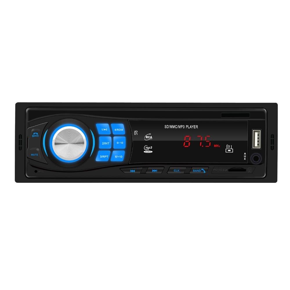 Radio de coche Radio Estéreo reproductor de coche Bluetooth Radio Auto estéreo reproductor de música MP3 para el receptor de entrada del coche 5 uds 3,5mm conector de clavija de Metal estéreo de 3 polos adaptador de enchufe y Jack 3,5 con terminales de cable de soldadura enchufe estéreo de 3,5mm