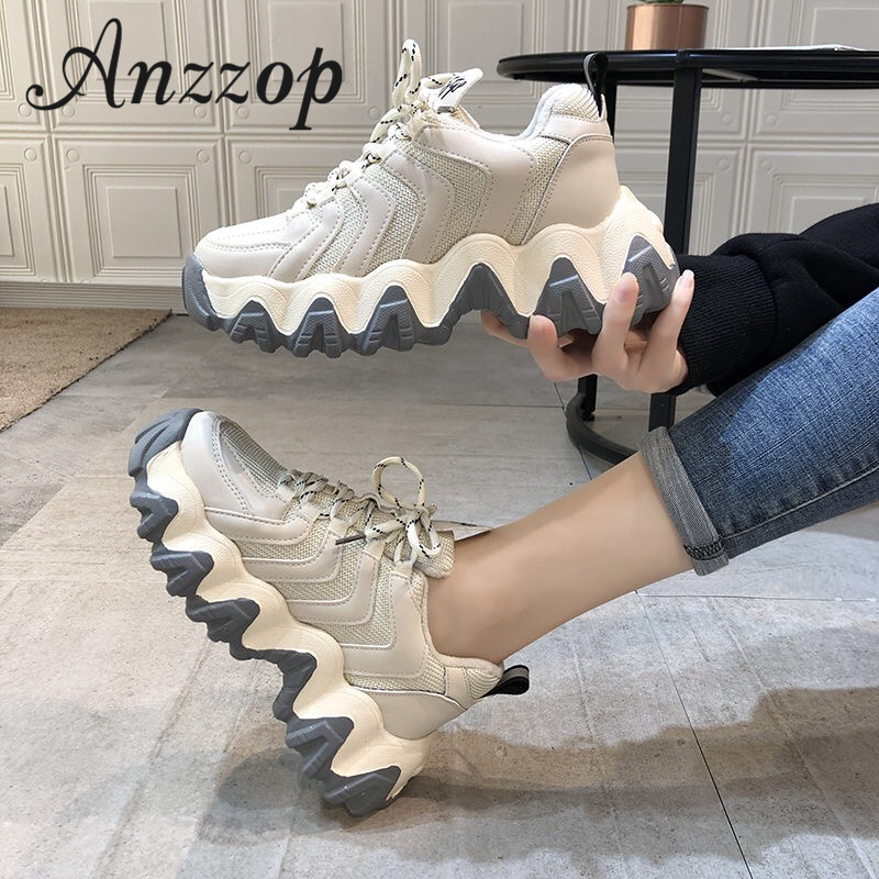 20 Ladies Sports Casual Shoes Fashion High Quality Increase Spring And Autumn Breathable Thick Bottom Running Shoes Women Wild