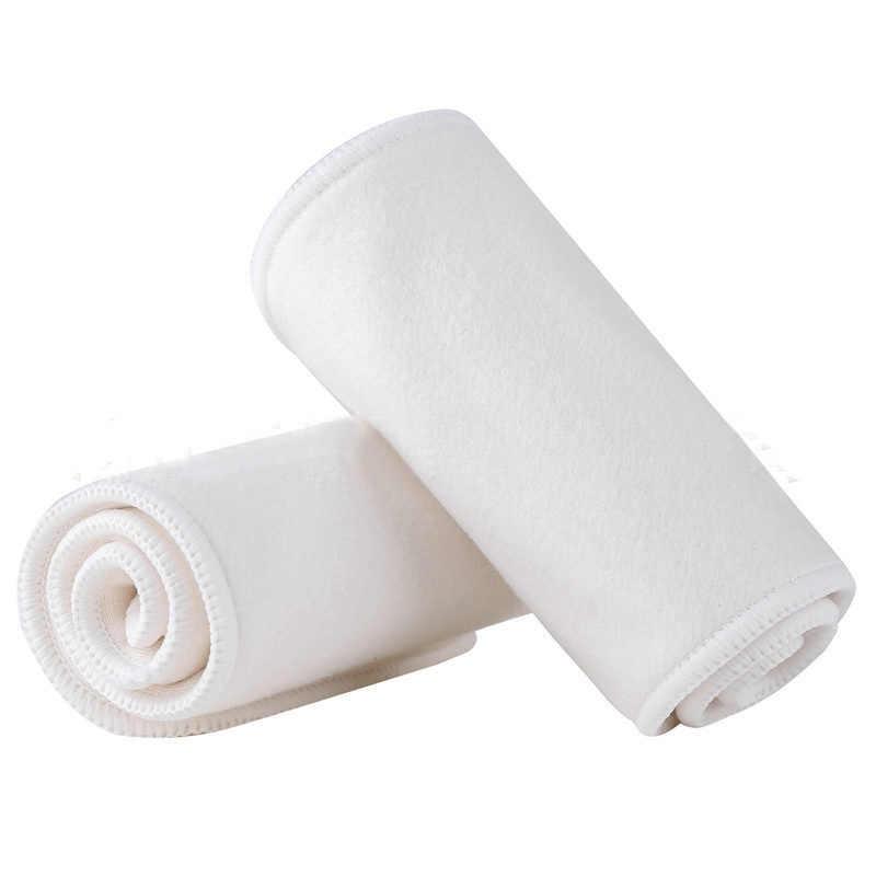 5PCS 4 ชั้นไม้ไผ่แทรกล้างทำความสะอาดได้ Breathable แทรกสำหรับผ้าอ้อมเด็กทารกผ้าอ้อม