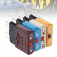10-25A Circuit Breaker Blade Fuse 28V Resettable Manual Reset Fuse Adapter for Car Truck Boat Marine Car Insert Protector
