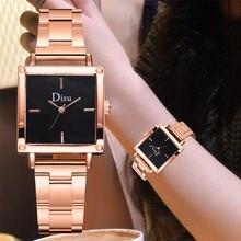 Montre à Quartz avec cadran carré pour femme, bracelet en acier, de haute qualité, élégante, offre spéciale, Business, 04 *
