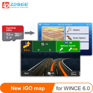 GPS map micro SD cards 32GB for windows ce 6.0 New latest Map free update for Gps Navigation Europe/Russia/spain etc(China)