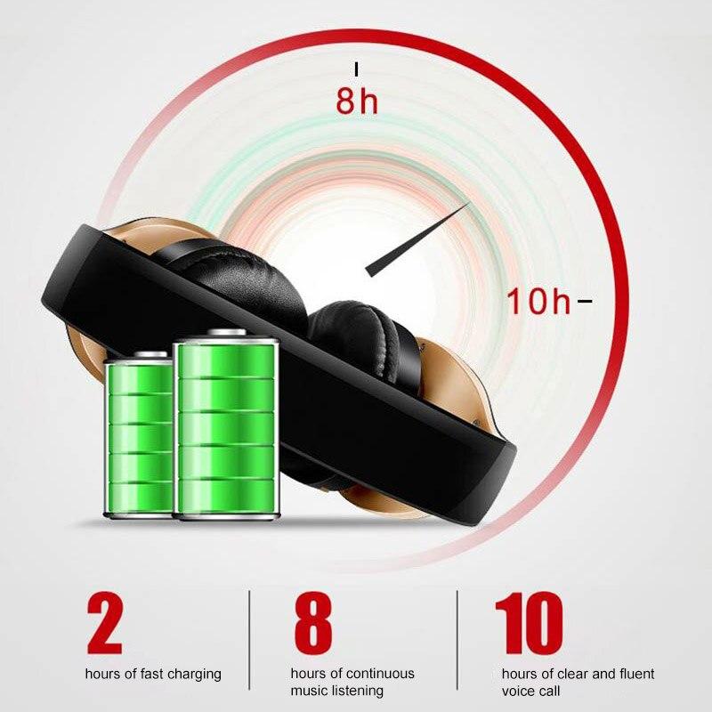 Image 4 - PunnkFunnk Wireless Headphones V5.0+EDR Bluetooth Headset For Mobile Phone Mp3 Foldable Stereo Noise Reduction Gaming EarphonesBluetooth Earphones & Headphones   -