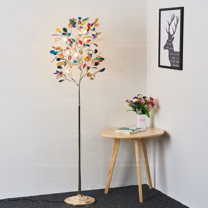 Colorful Beautiful Floor Lamp In Bedroom Girls Room Bedside Agate Stone Floor Lamp Led G4 Bulb Included 85 265v Gold Floor Lamps Floor Lamps Aliexpress