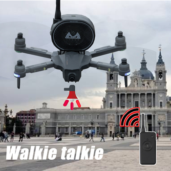 Walkie Talkie Drone Speaker Megaphone for Drone camera Aerial Broadcasting With A Loudspeaker 1200m Control Distance