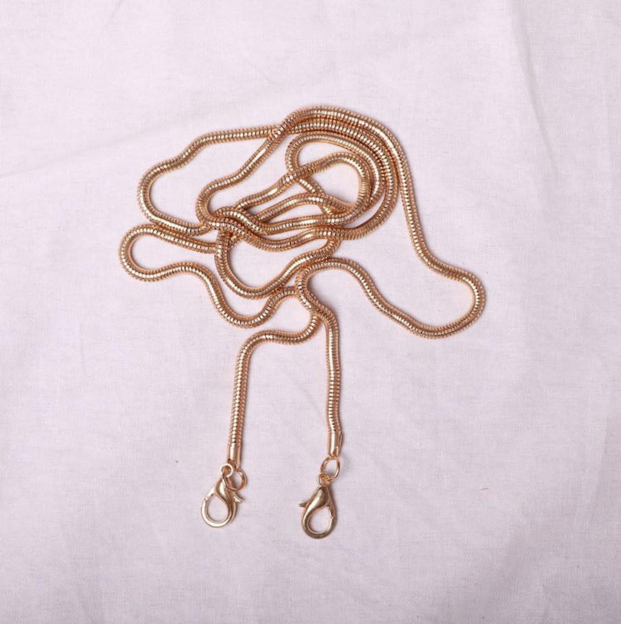 100-120cm Snake Chain For Bags Gold Silver Metal Chains  Shoulder Bag Straps Crossbody Belts Designer Purses Accessories Bag