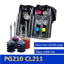 GraceMate Pixma IP2700 IP2702 MP240 MP250 MP260 MP270 용 Canon PG 210 CL 211 용 리필 잉크 카트리지 교체