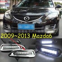 цена на 2pcs for Mazda 6 Mazda6 2008 2009 2010 LED DRL Daytime Running Light Daylight headlight fog lamp cover car-Styling