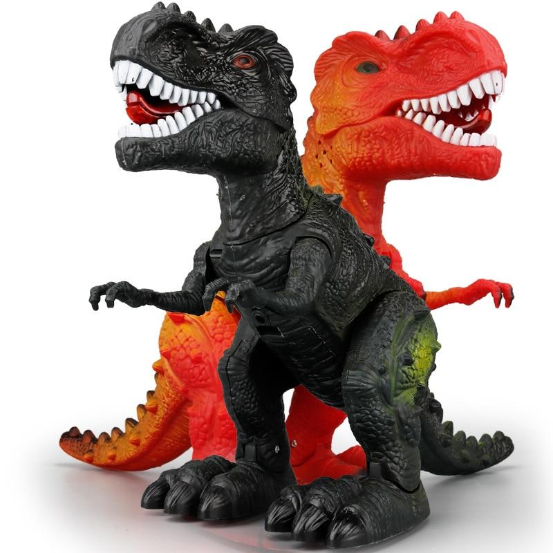 Hot Selling Jurassic Electric Dinosaur T-Rex Animal Model Will Walk Shining Boy CHILDREN'S Toy