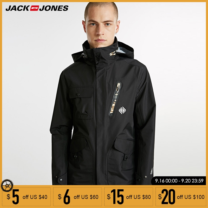 Jack Jones Brand New fashion casual camouflage colour wind   proof and wear resistant fabric hooded jacket men 218321564-in Jackets from Men's Clothing    1