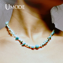 UMODE Natural Stone Bohemian Beaded Choker Necklaces Handmade Pendants Jewelry Boho Yoga Collares Vsco Girls Things PN0690