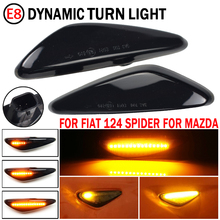 2 sztuk dynamiczne światła obrysowe LED włącz światła sygnalizacyjne wskaźnik Amber Repeater światła samochodowe dla Mazda 6 Atenza GH 2008 2012