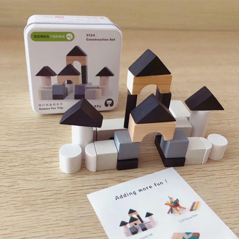 3D пазл клуб деревянные игрушки блоки строительный Комплект игры для семейного путешествия железный ящик образовательный для ребенка